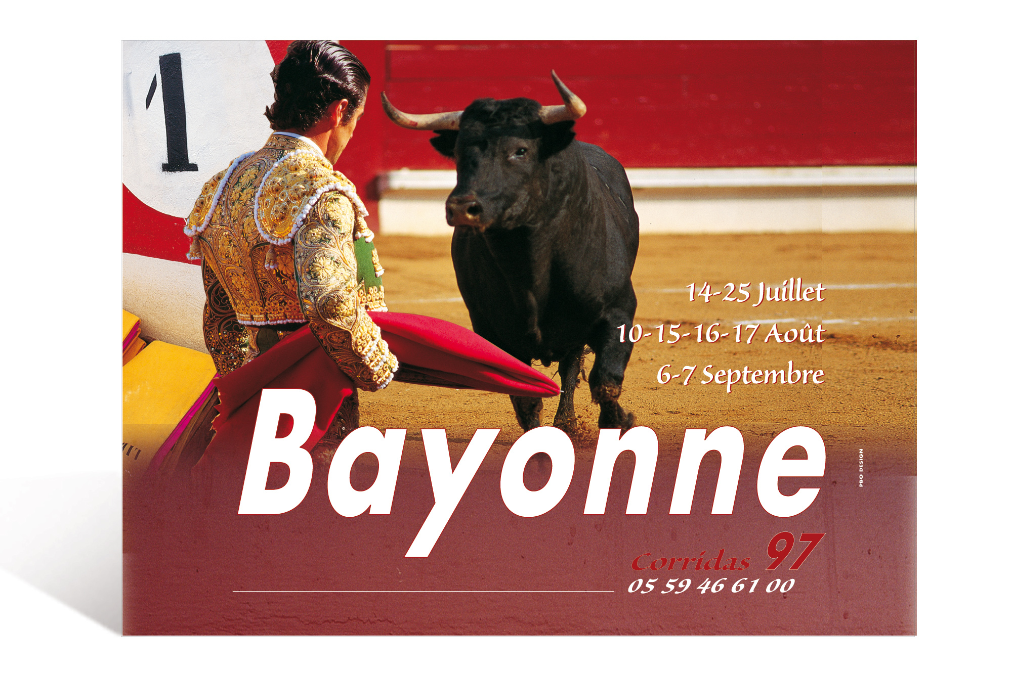 Affiche Corrida 97 Ville de Bayonne 1
