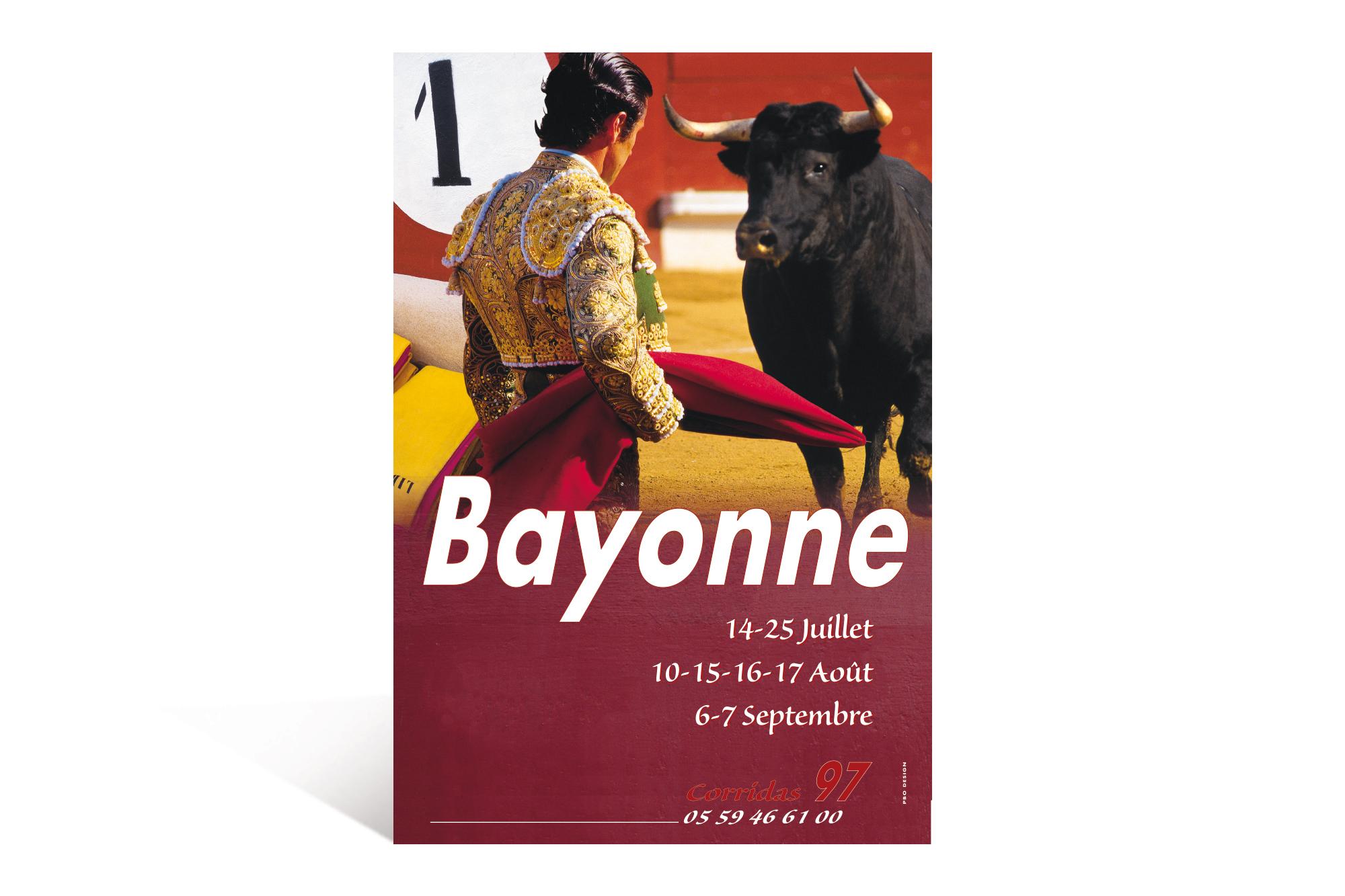Affiche Corrida 97 Ville de Bayonne 2
