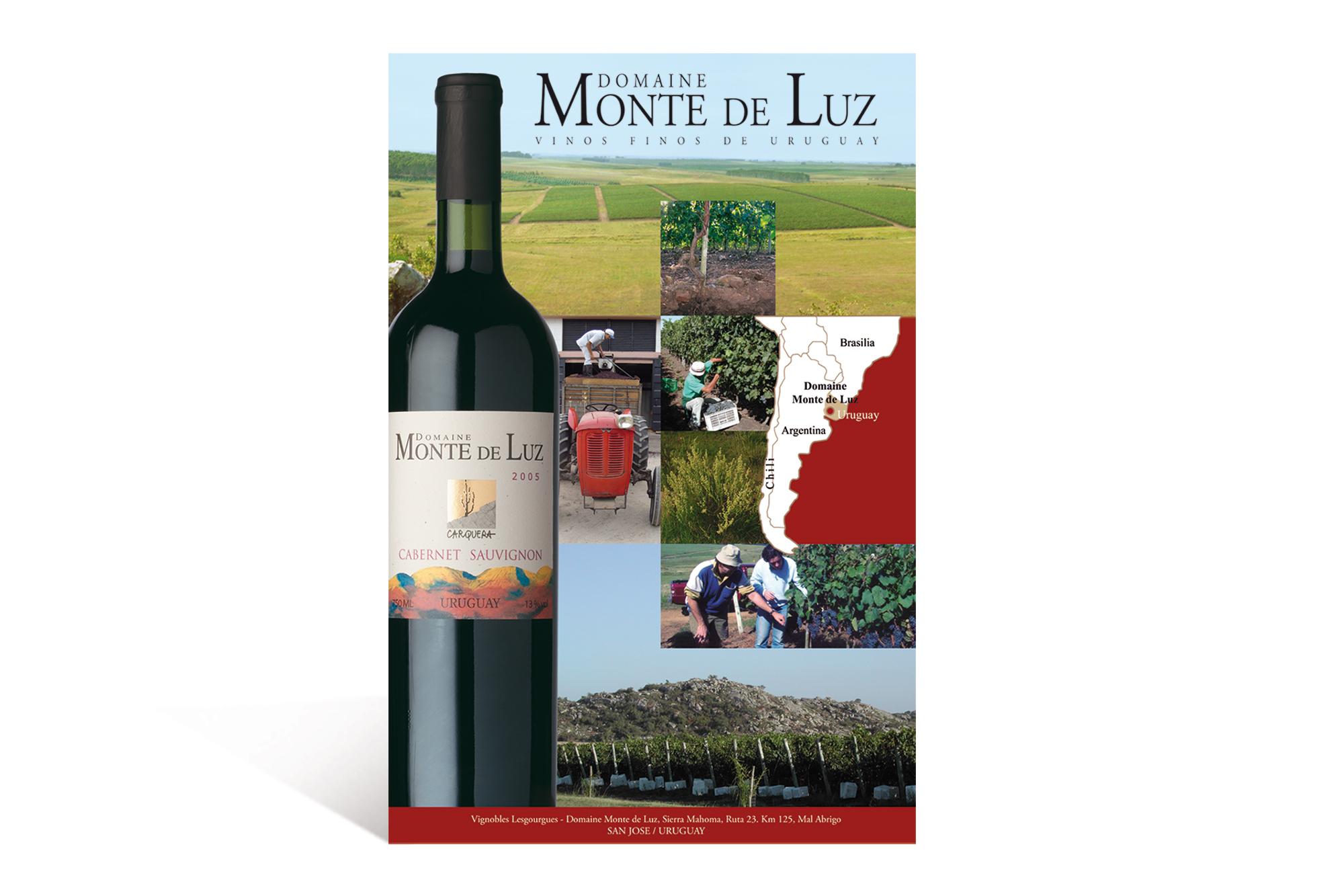 Affiche Abribus pour la promotion d'un vin uruguayen 1