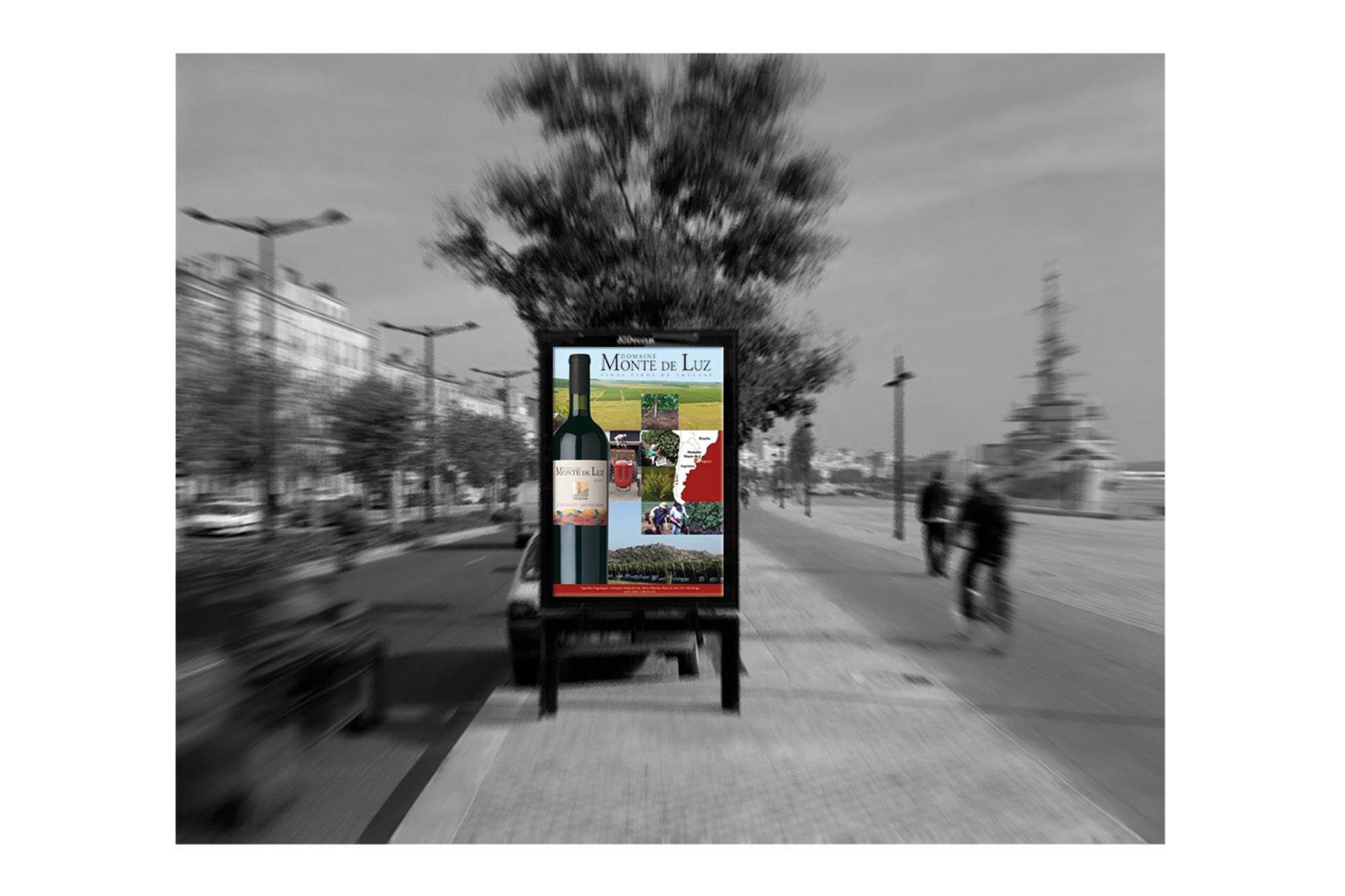 Affiche Abribus pour la promotion d'un vin uruguayen 2