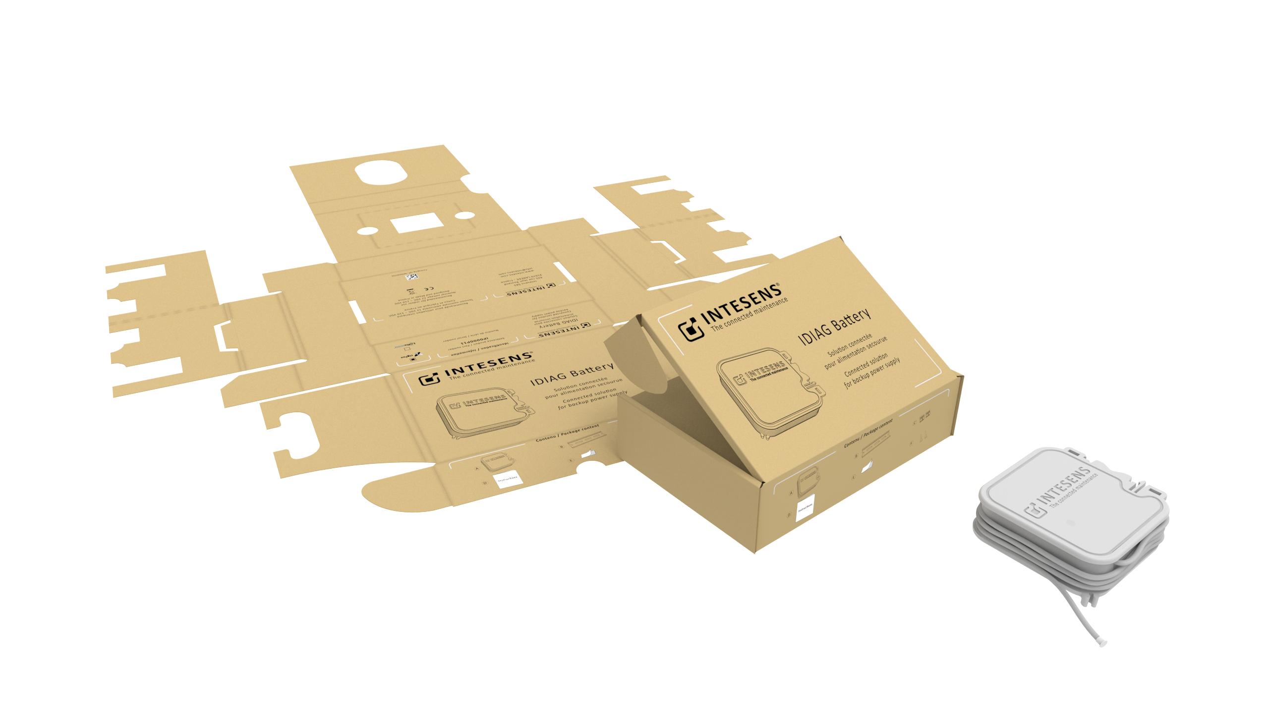 packaging boitier Intesens