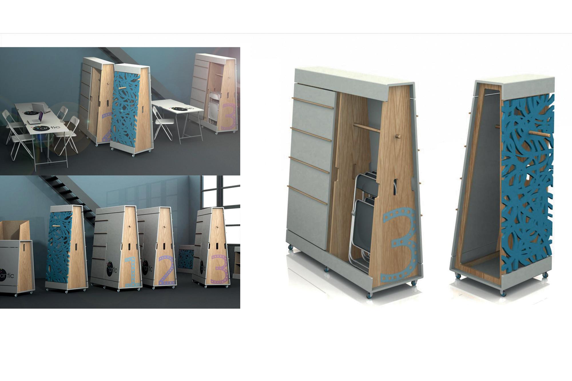 bureaux mobiles pour espace de coworking pbo design agence de design global bayonne depuis. Black Bedroom Furniture Sets. Home Design Ideas