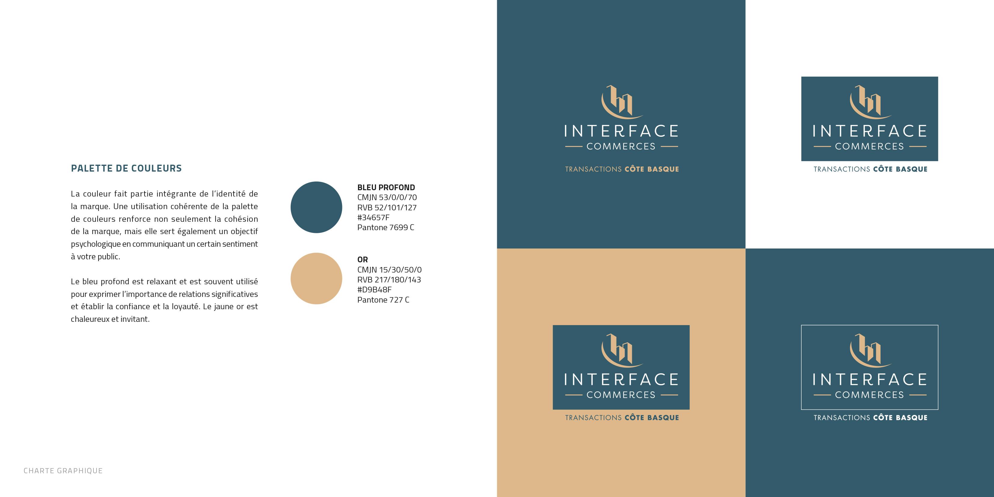 Charte graphique d'Interface commerces