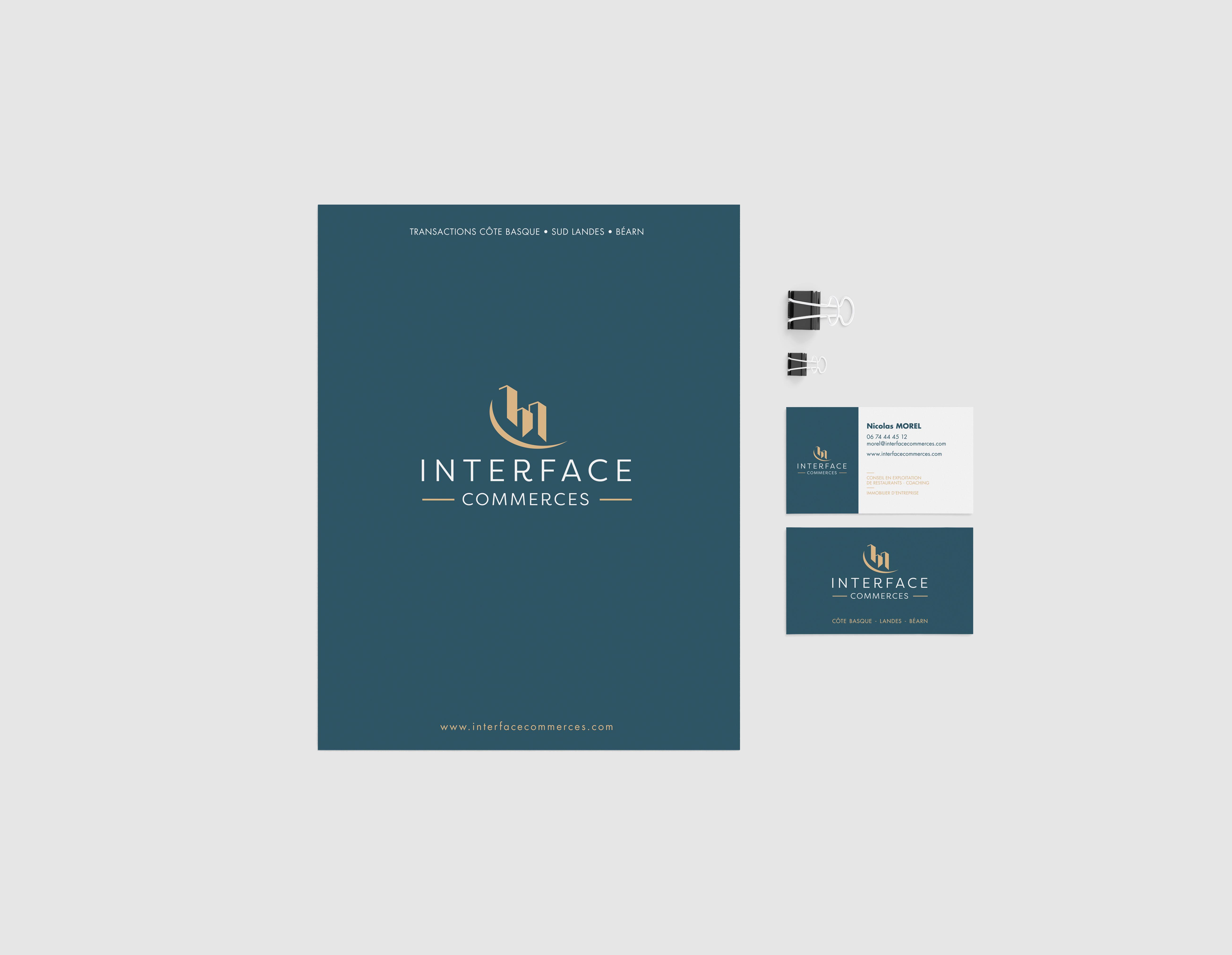 Identité visuelle d'Interface commerces