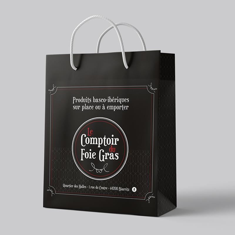 Packaging - Poche Le comptoir du foie gras