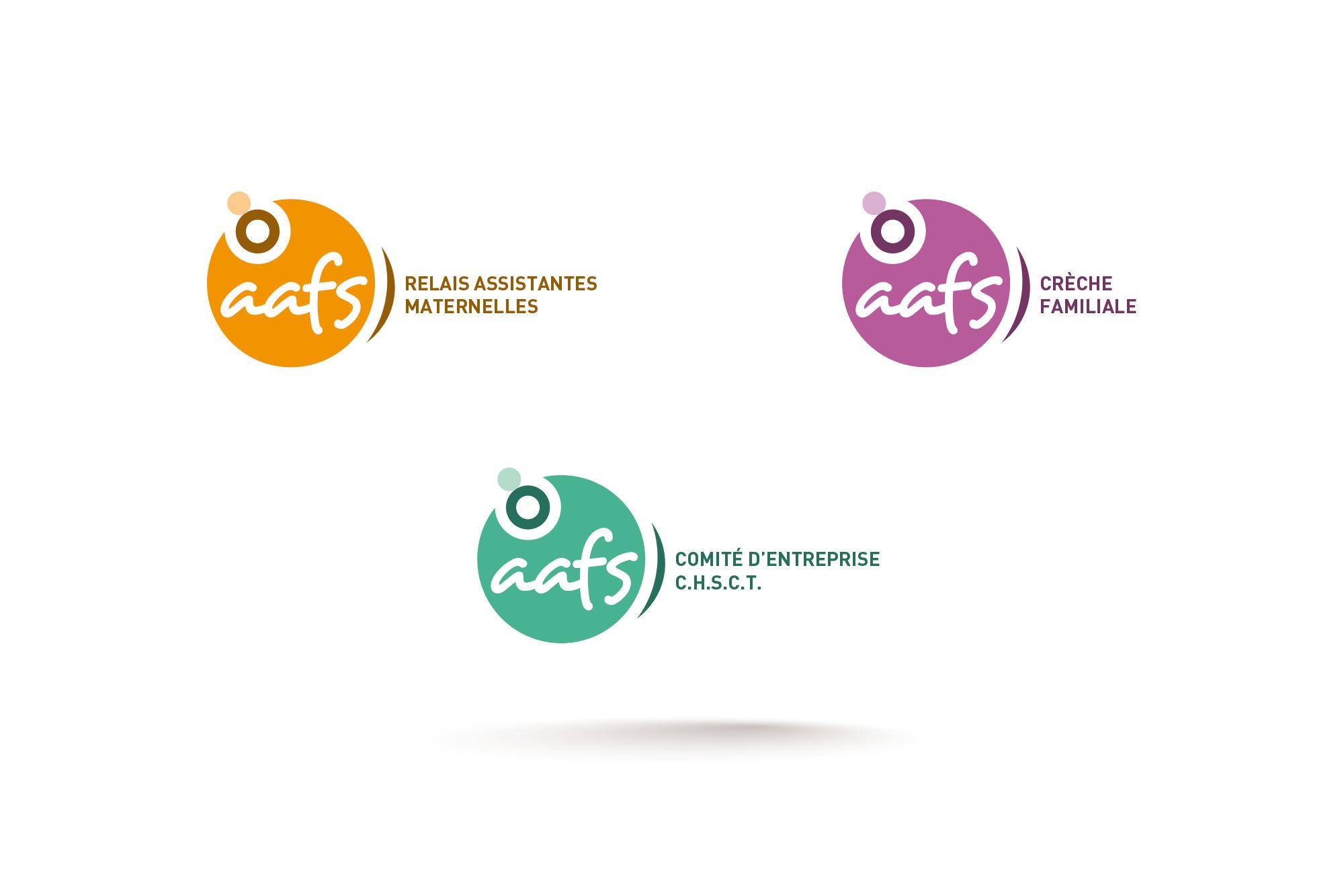 Déclinaisons graphique du logotype de l'AAFS