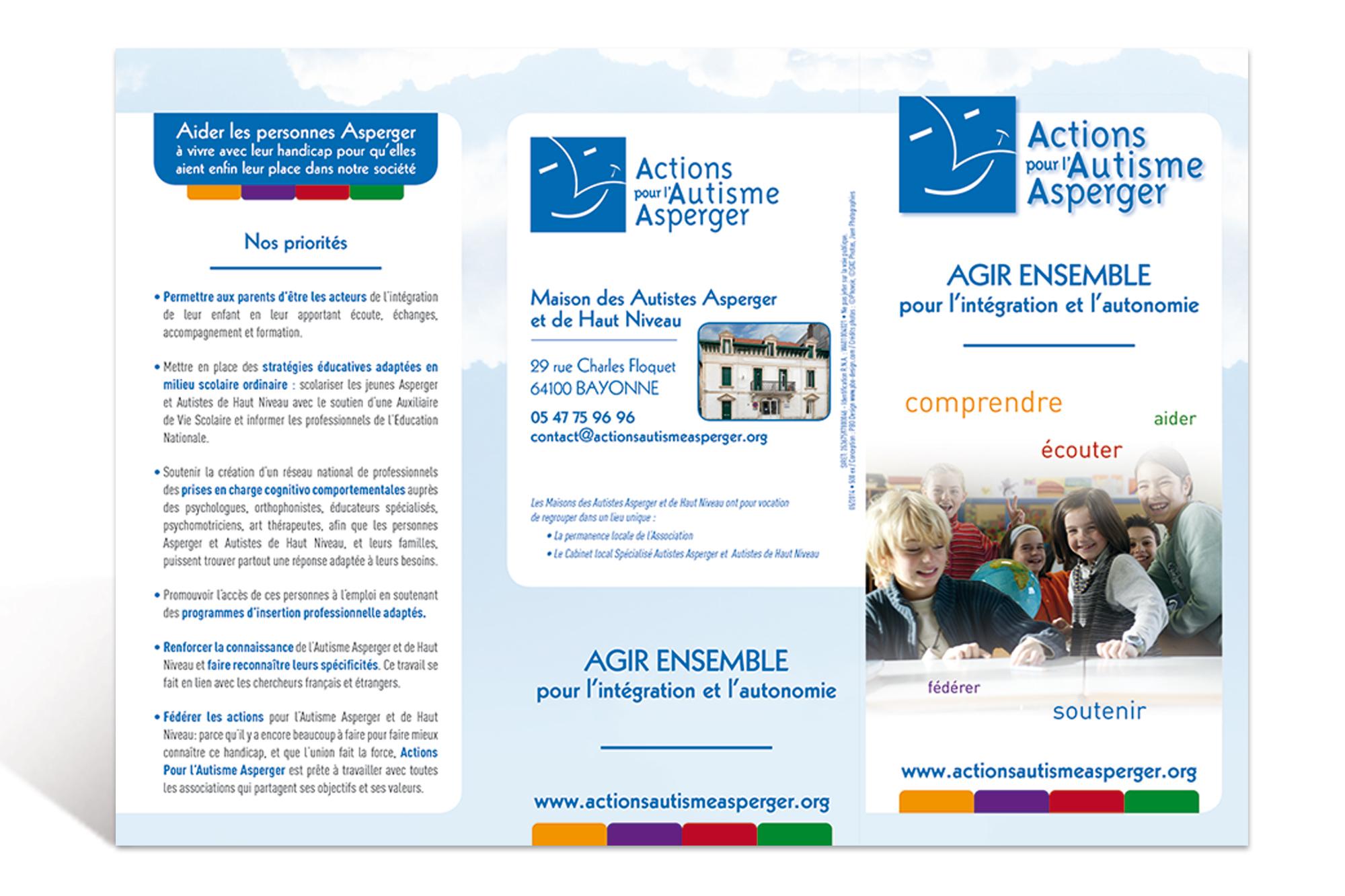 Dépliant Actions pour l'Autisme Asperger 2