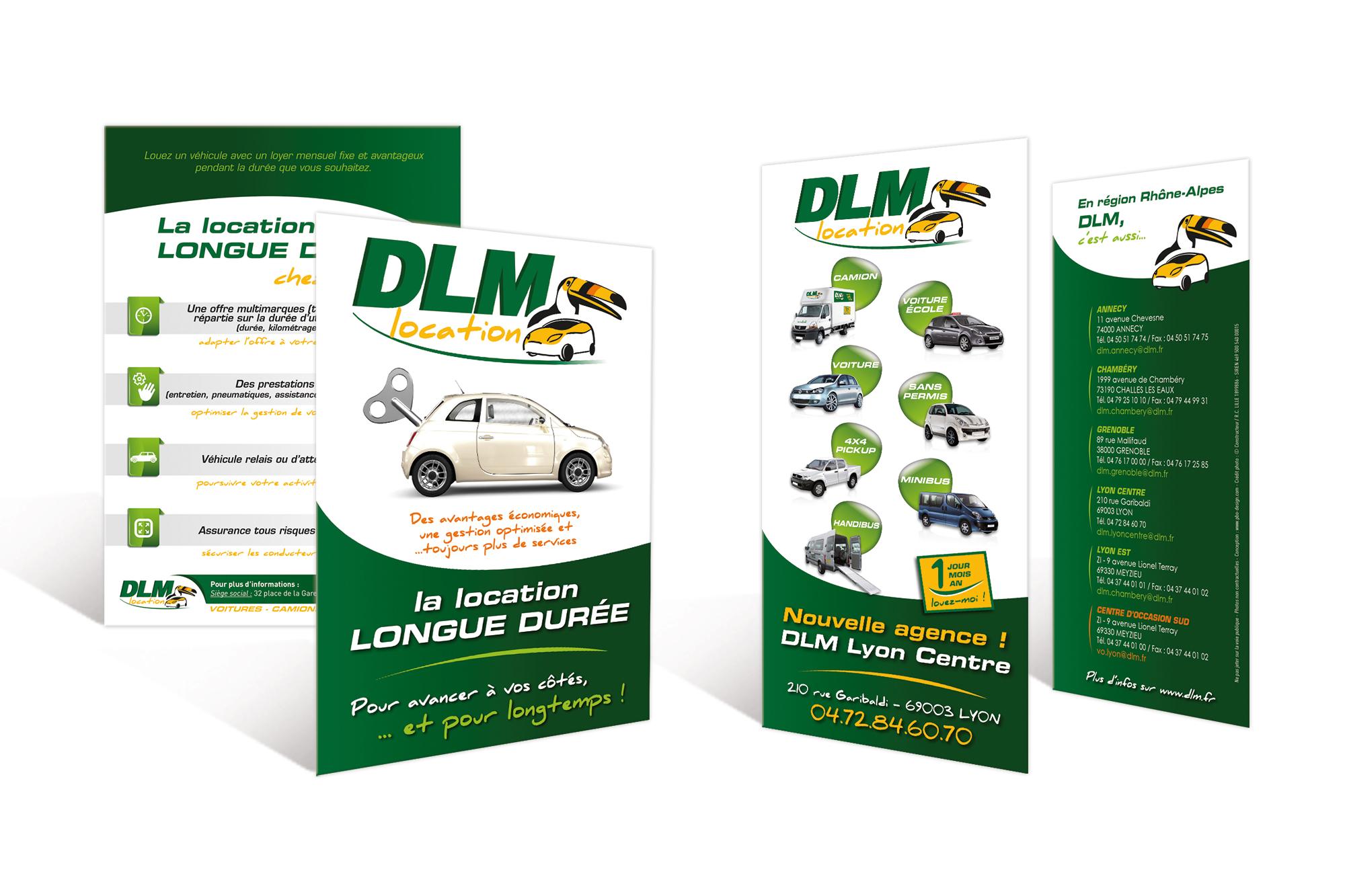 Dépliants DLM Location
