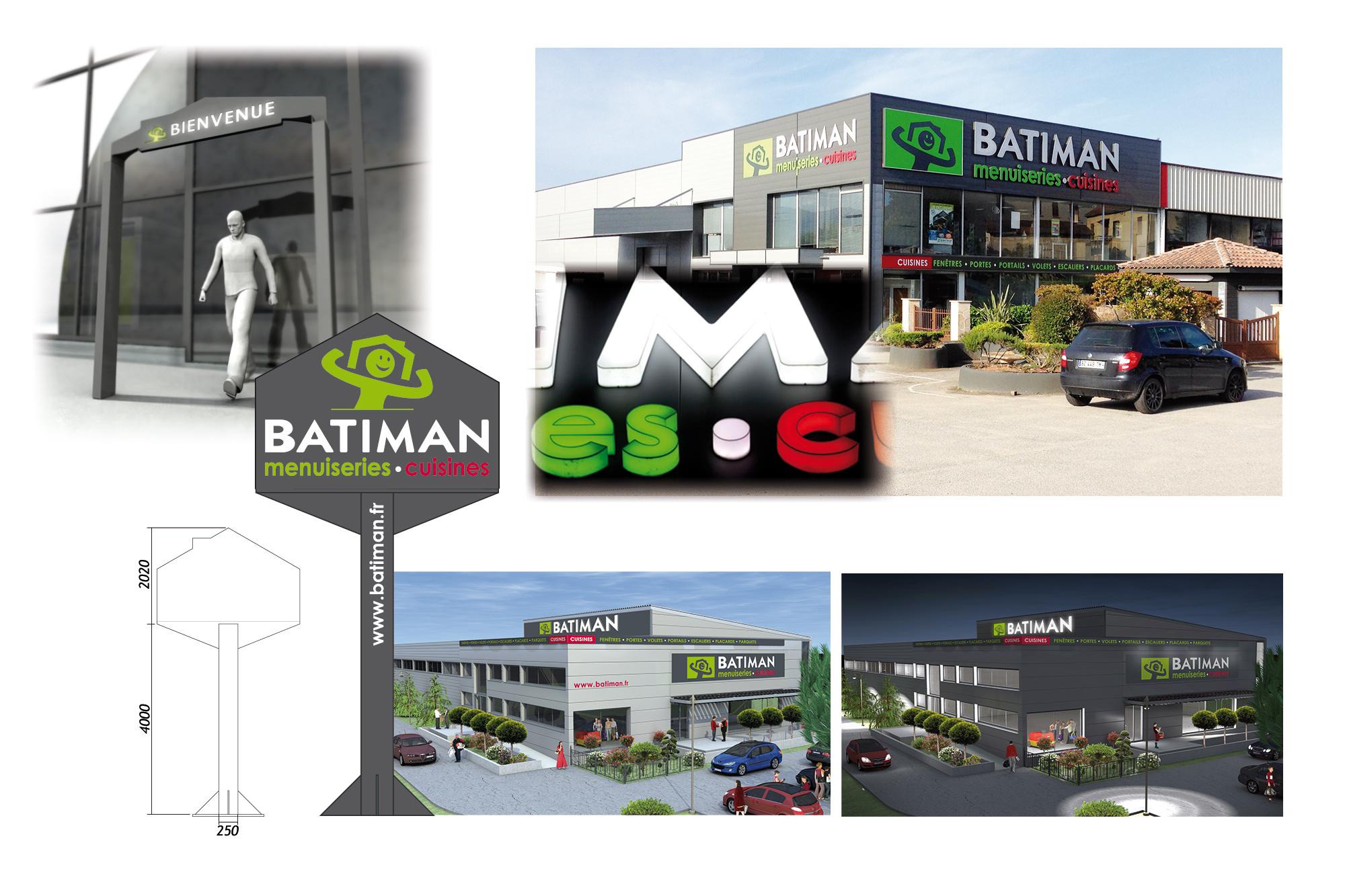 Enseignes extérieures pour les magasins Batiman 3