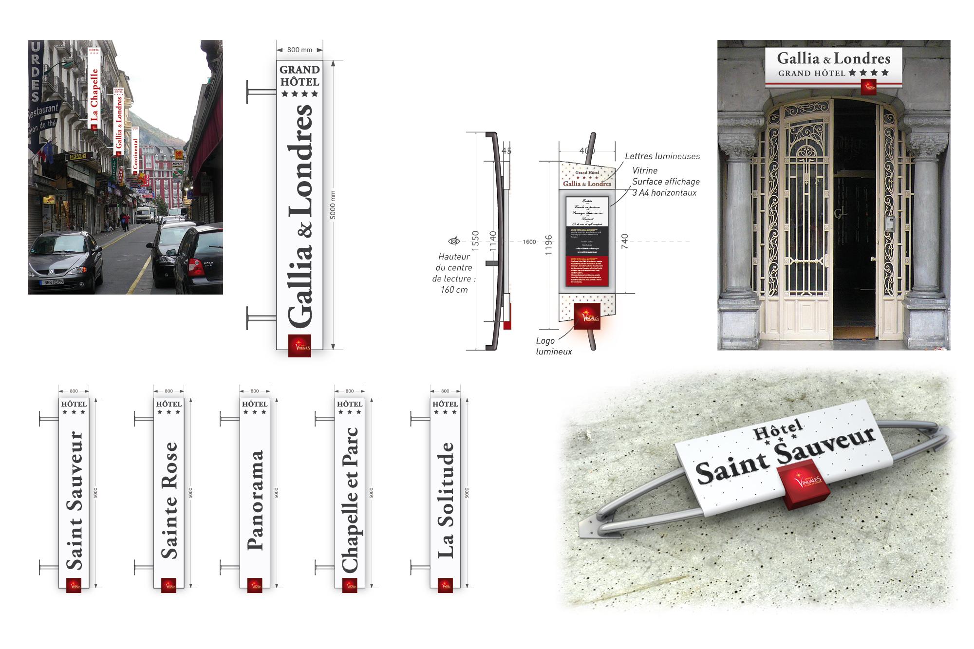 Etude d'enseignes pour les Hôtels Vinuales à Lourdes 2