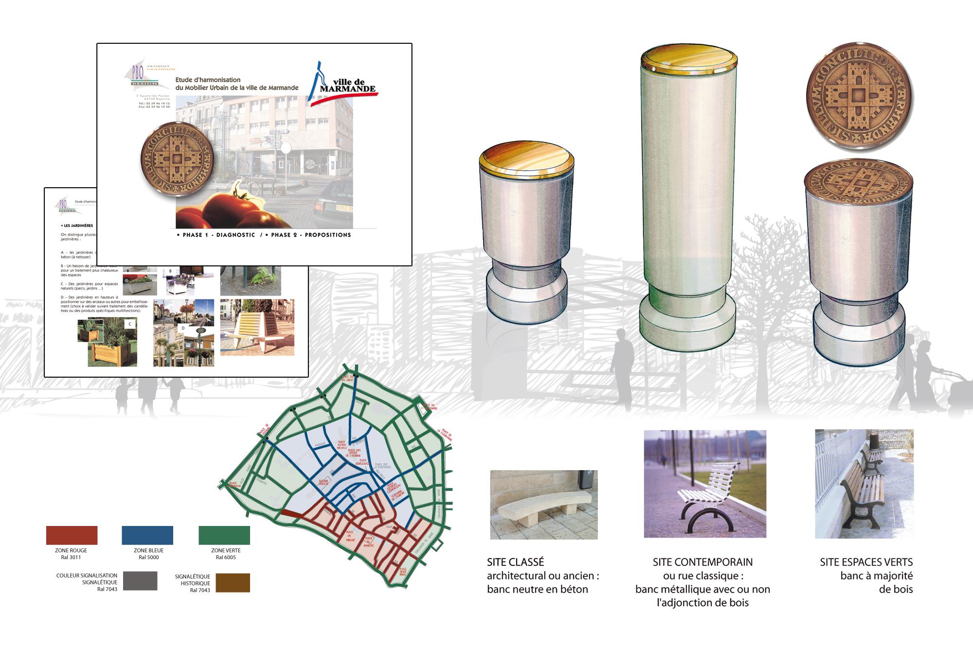 Etude d'harmonisation du mobilier urbain de Marmande 2