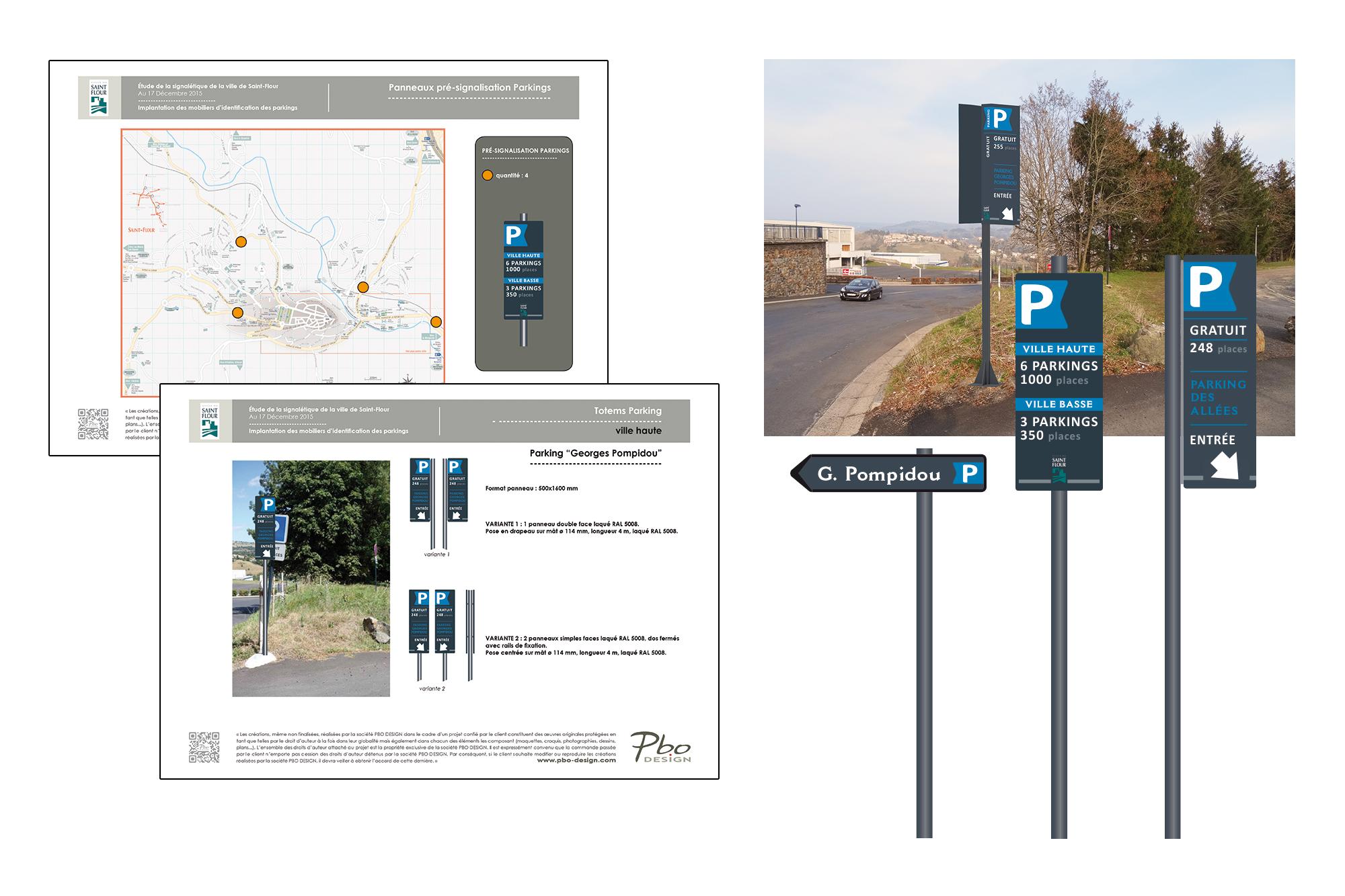 étude signalétique des parkings de St Flour 2