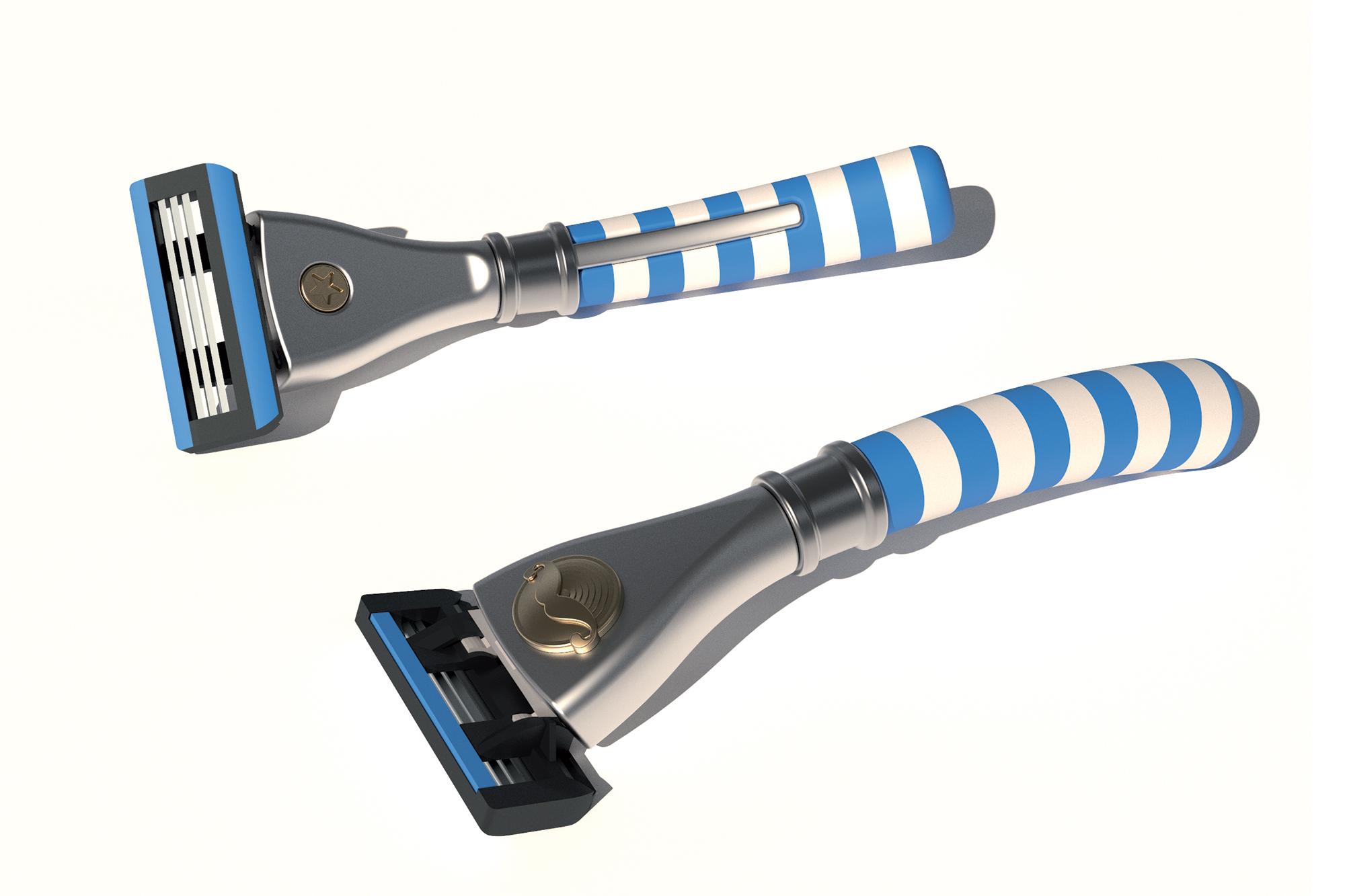 1 des projets recherche de manche de rasoir - Big moustache