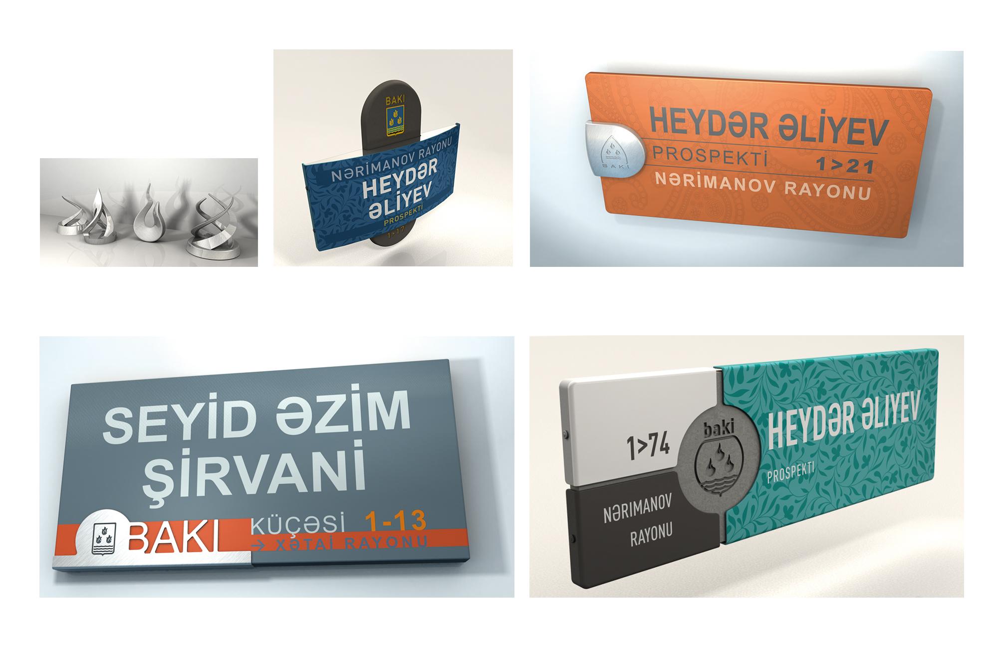 Plaques de rue Bakou - recherches