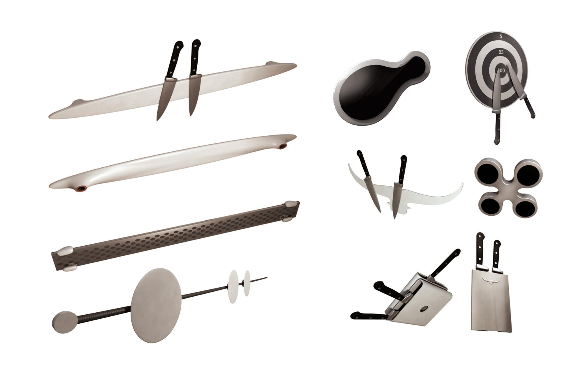 Porte couteaux aimanté - recherches
