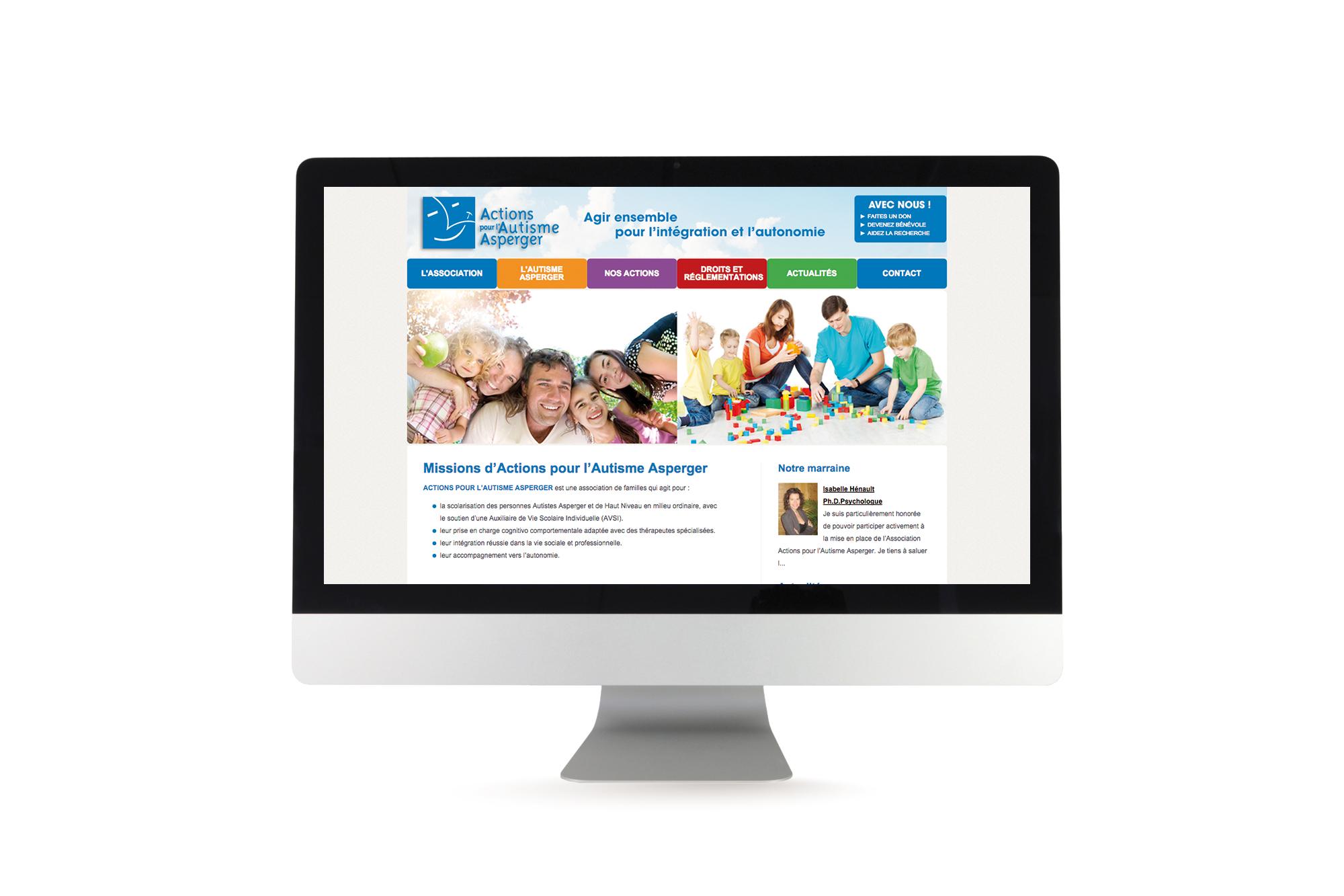 Site internet dynamique Actions pour l'Autisme Asperger