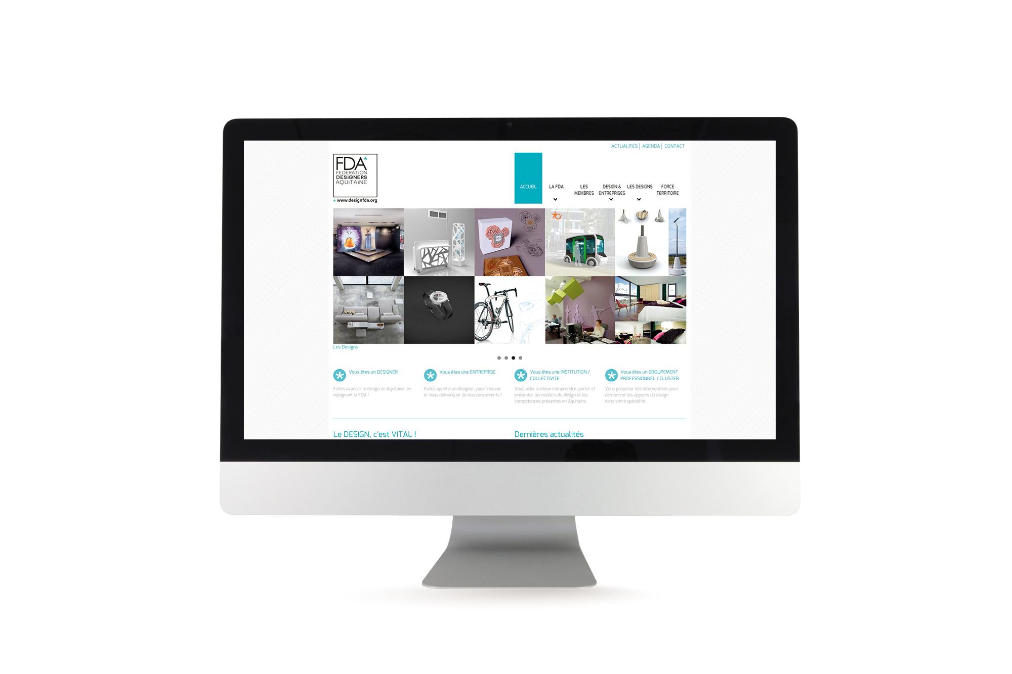 Site dynamique pour la Fédération des Designers en Aquitaine