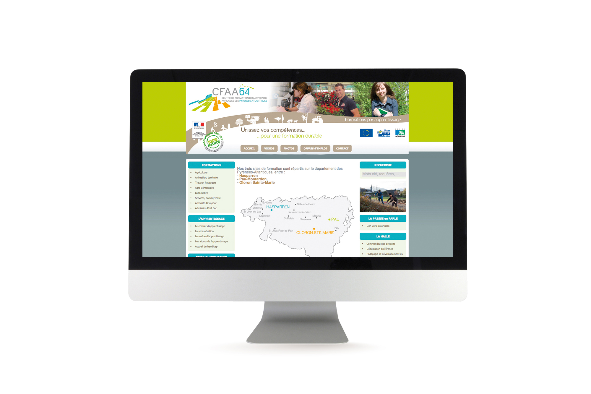 Site internet du CFAA64