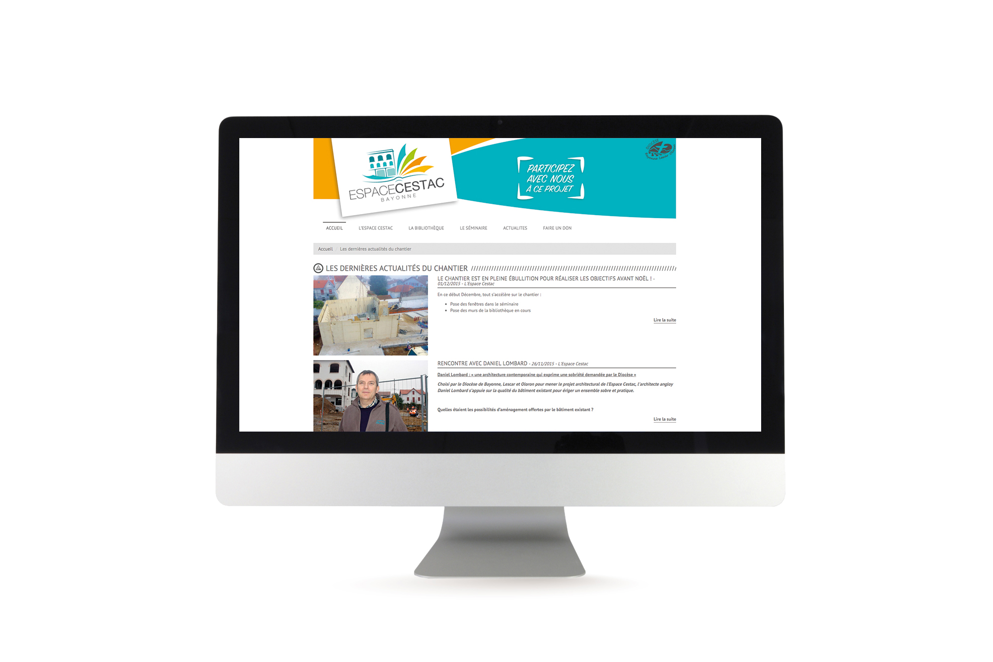 Site internet dynamique de l'Espace Cestac