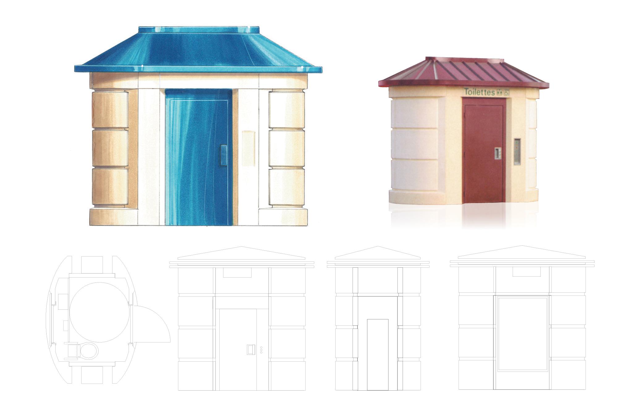 Toilettes urbaines automatiques - recherches et déclinaisons - MPS