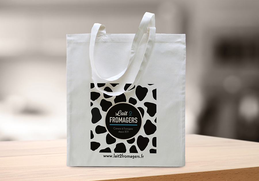 tote bag Lait 2 Fromagers