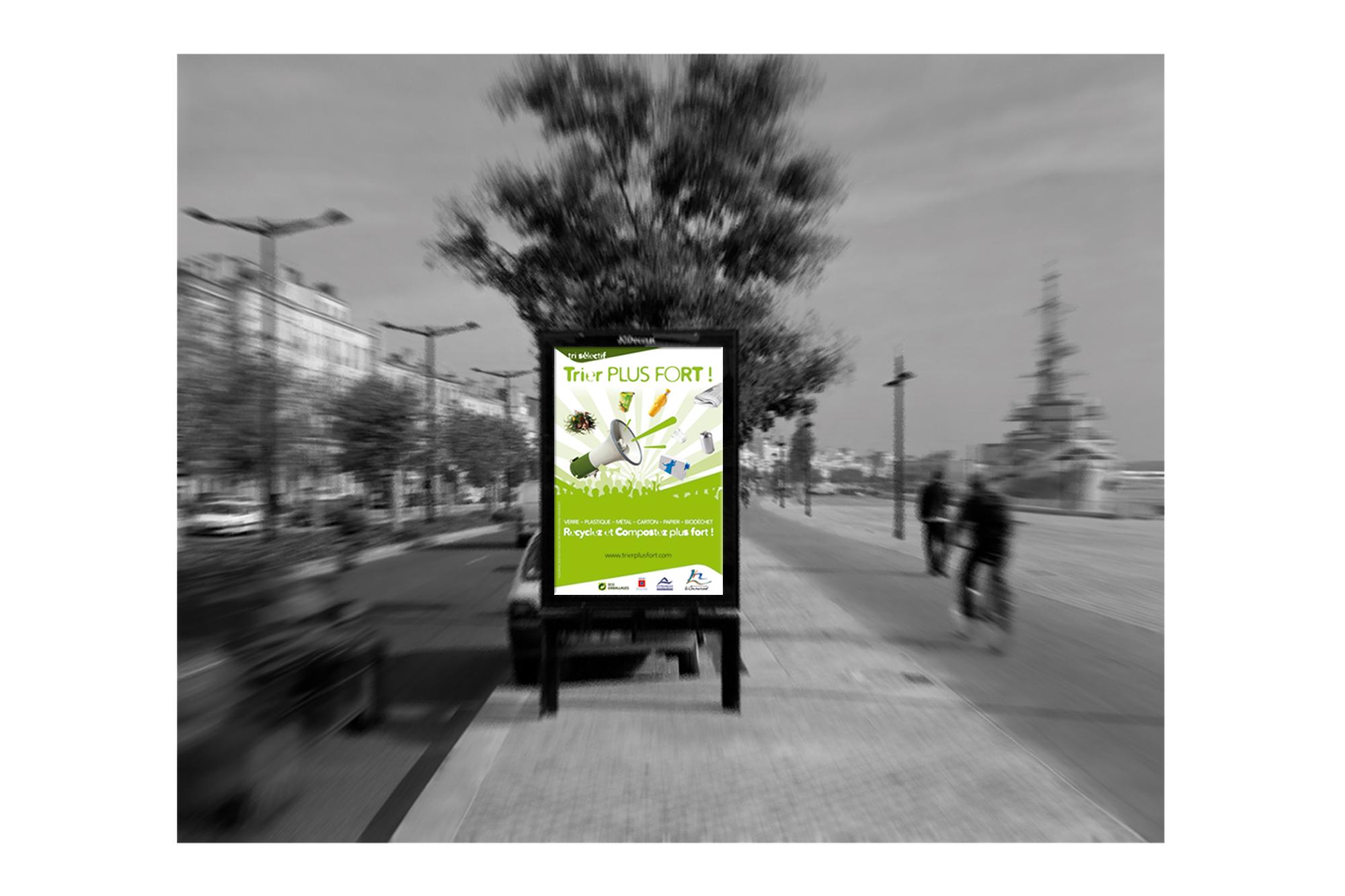 Campagne d'affichage TRIEZ PLUS FORT 2