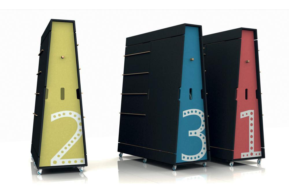 Concept Mobilier pour espace de co-working pour l'ANTIC