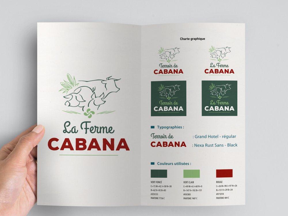 Charte graphique de la Ferme Cabana