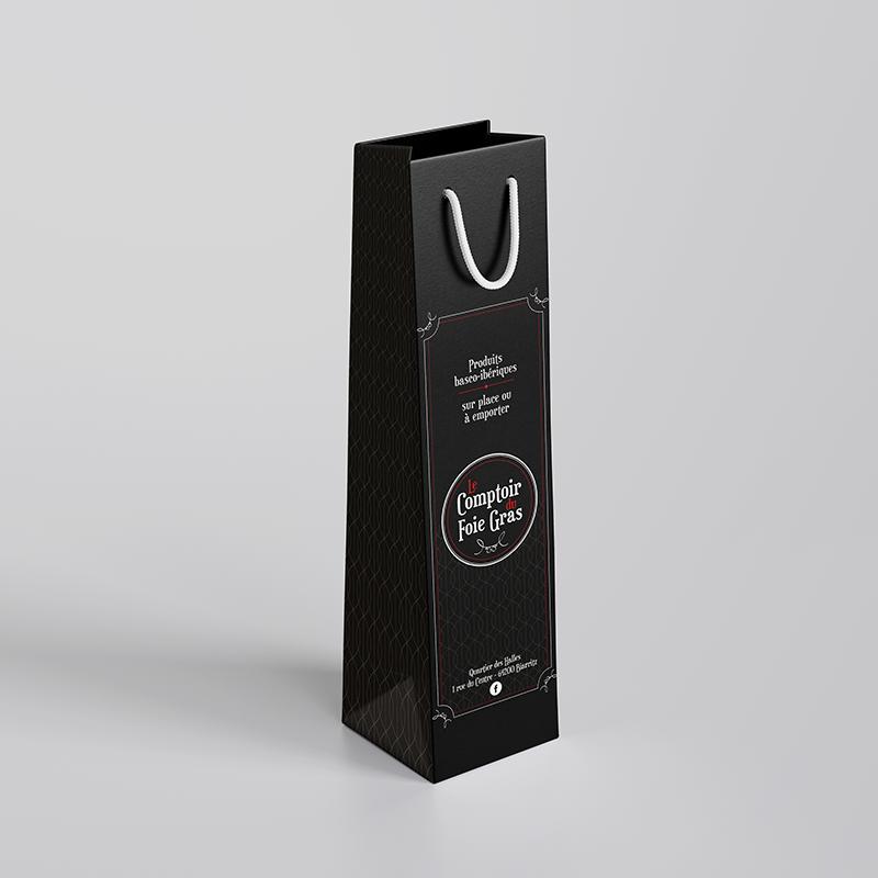 Packaging - Sac bouteille Le comptoir du foie gras