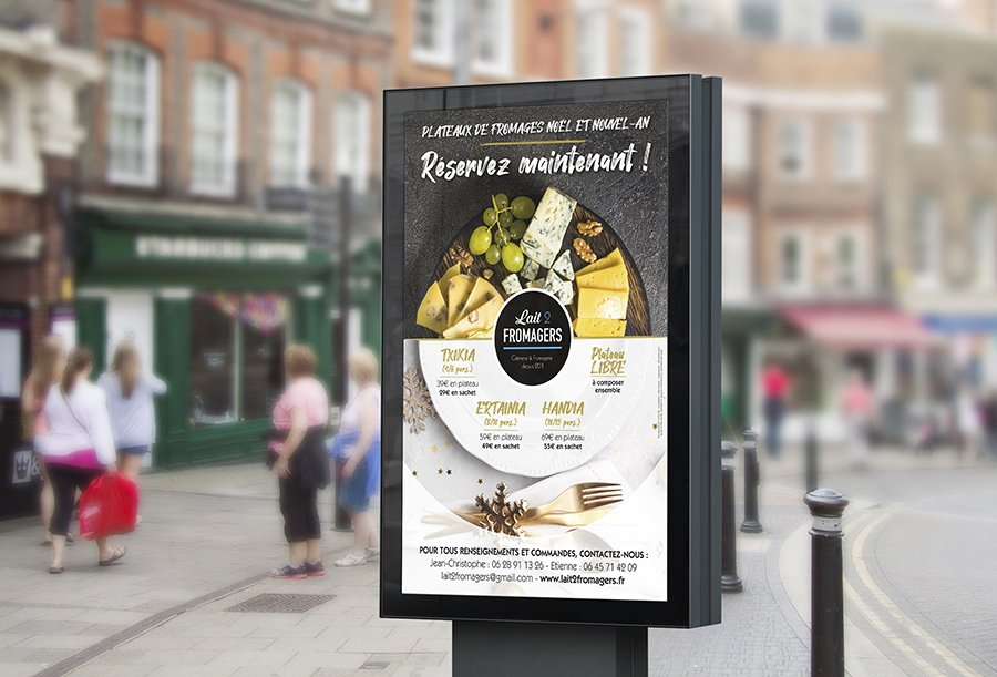 Affiche Lait 2 Fromagers