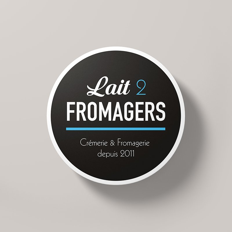 Logotype Lait 2 Fromagers
