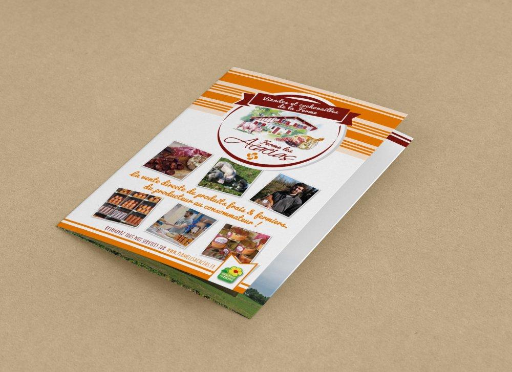 Plaquette de présentation ferme Les Acacias