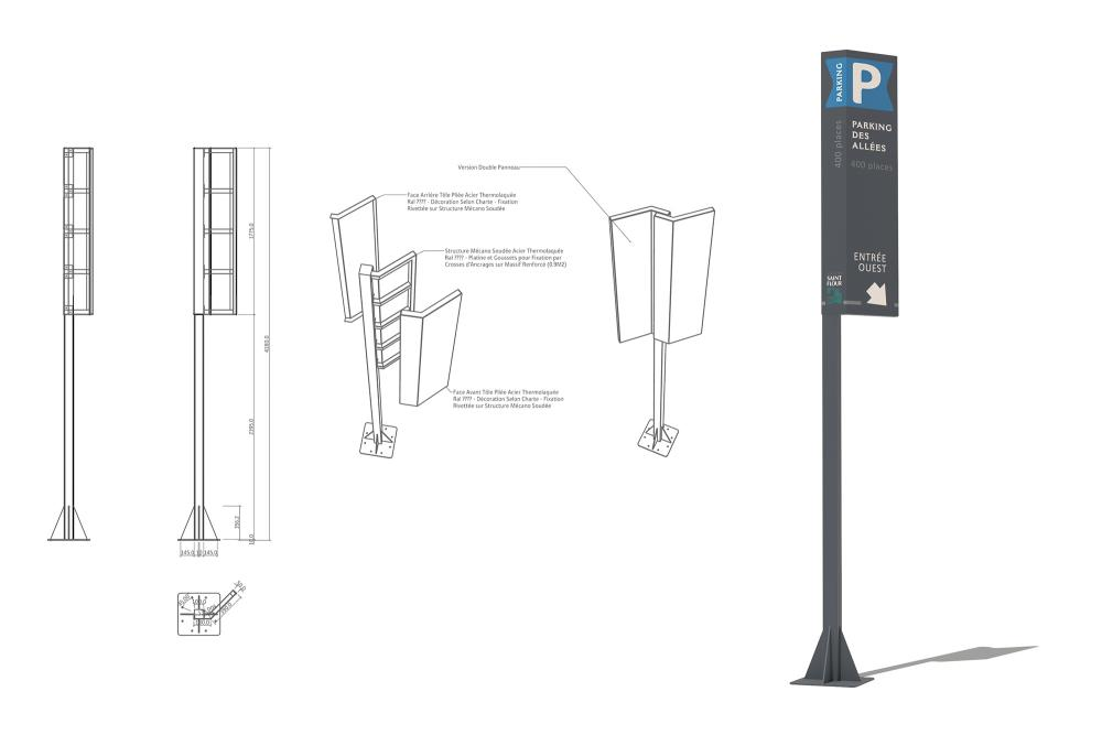étude signalétique des parkings de St Flour 1