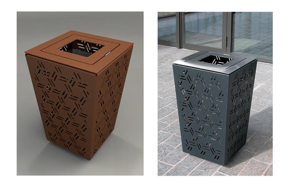 Mobilier urbain Giro - corbeille à papier - ACCENTURBA