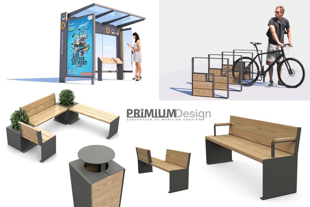 Gamme de mobilier urbain PRIMIUM Design pour SPL