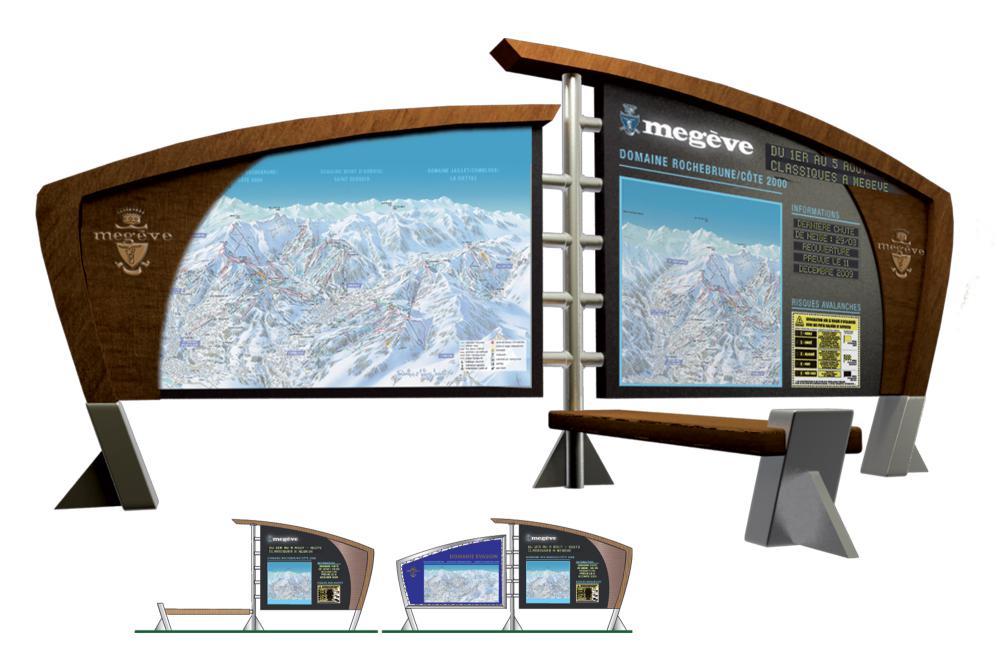 Panneaux dynamiques station de Megève