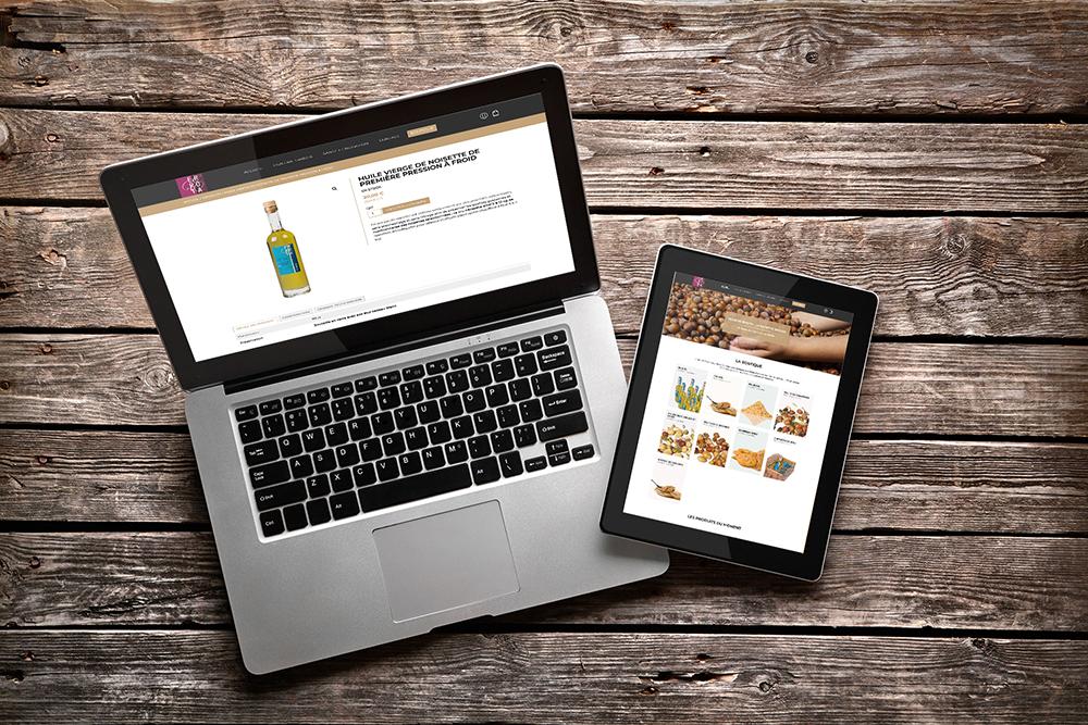 Site e-commerce huilerie Errota
