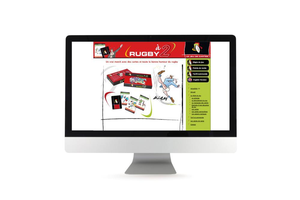 Site internet de promotion du jeu Rugby à 2