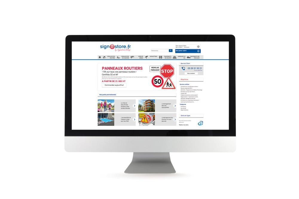 Site de vente en ligne Signastore