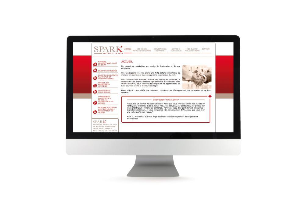Site internet dynamique Spark